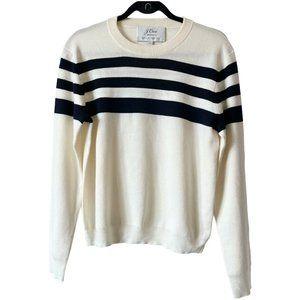 J.Crew NET-A-PORTER Wool Sweater Striped Crewneck
